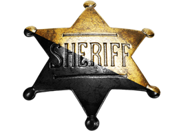 A pin, which a Sheriff might wear