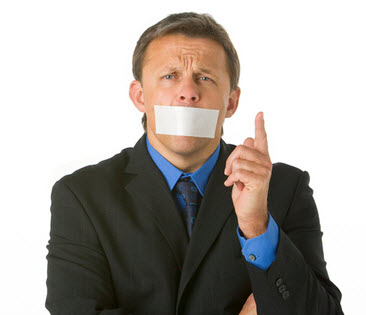 A picture of person with closed mouth